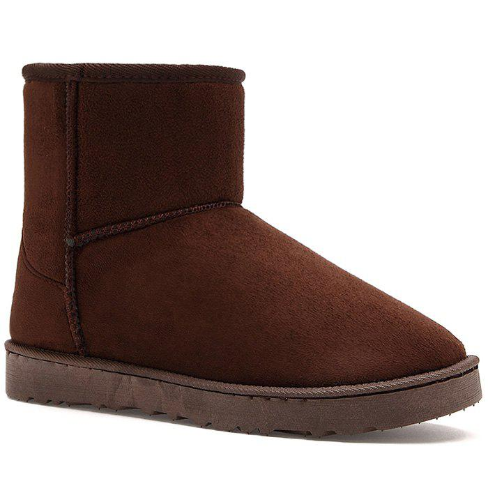 New Badge Suede Snow Boots