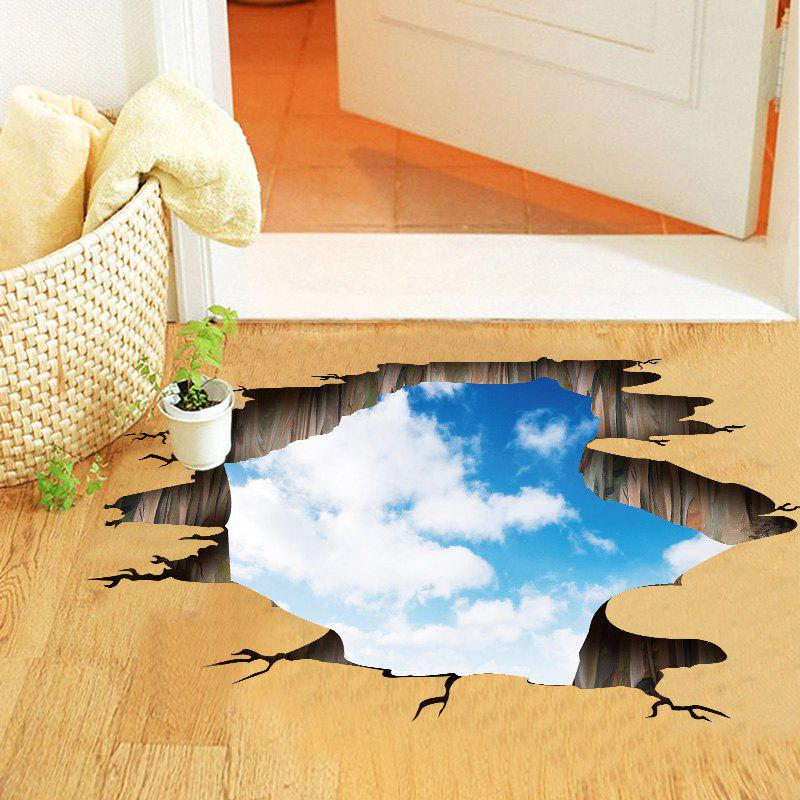 Buy Blue Sky and White Cloud Pattern PVC Removable 3D Floor Wall Decal