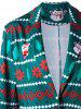 Lapel Collar One Button Christmas Blazer -