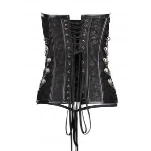 Chians Punk Steel Boned Lace Up Corset Top -