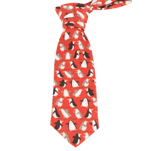 Cartoon Penguin Pattern Christmas Necktie -