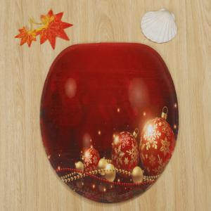 Christmas Baubles Chain Pattern 3 Pcs Bath Mat Toilet Mat -