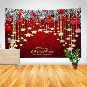 Wall Decor Christmas Ball and Star Print Tapestry -