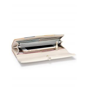 Striped Color Block Faux Pearl Wallet -