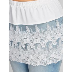 Plus Size Sheer Embroidered Lace Extender Skirt -