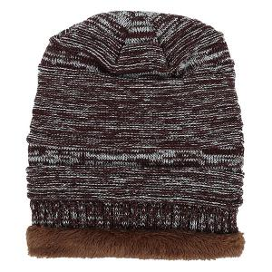 Outdoor Colormix Pattern Velvet Knitted Beanie -