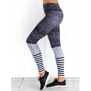 High Waist Skinny Printed Yoga Leggings -
