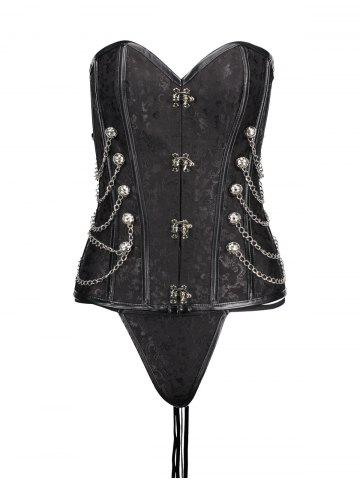 Latest Chians Punk Steel Boned Lace Up Corset Top
