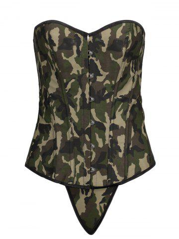 Shop Lace Up Steel Boned Camouflage Corset Top