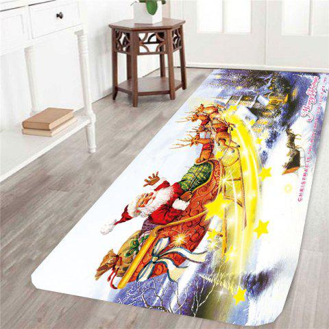 Stars and Christmas Carriage Printed Antislip Rug - COLORFUL - W24 INCH * L71 INCH