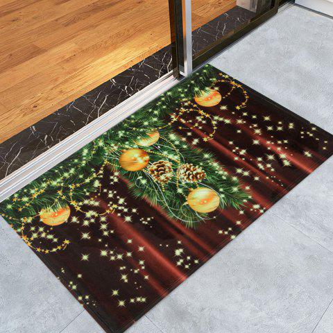 Christmas Ball Vorhang Print Fleece Antiskid Bath Mat