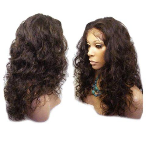 Shop Long Center Parting Fluffy Wavy Lace Front Synthetic Wig