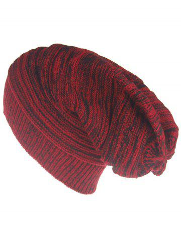 Fashion Outdoor Colormix Striped Pattern Thicken Knitted Beanie