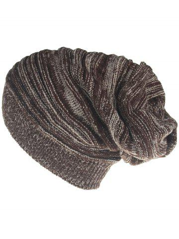 Affordable Outdoor Colormix Striped Pattern Thicken Knitted Beanie