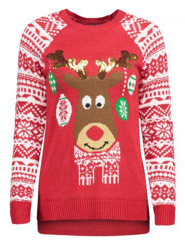 New Christmas Snowflake Glitter Elk Knit Sweater
