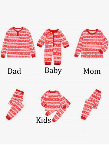 Online Fair Isle Printed Matching  Family Christmas Pajamas Set