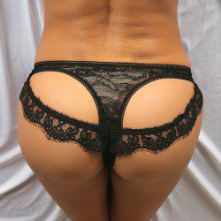 See Through Cutout Lace Backless Panties -