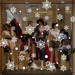 Christmas Snowflakes Pattern Wall Stickers For Living Room -