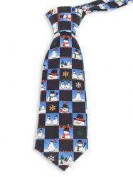 Christmas Snowman and Snowflake Pattern Novelty Christmas Necktie -