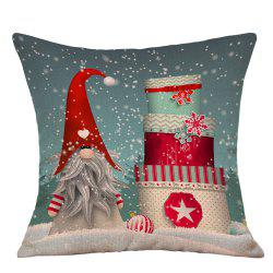 Snowy Christmas Gifts Print Decorative Linen Pillowcase -
