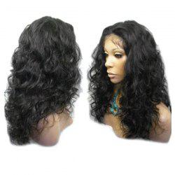 Long Center Parting Fluffy Wavy Lace Front Synthetic Wig -