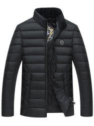 Stand Collar Full Zip Padded Jacket -
