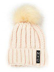 Outdoor Fuzzy Ball Embellished Crochet Knitted Beanie -