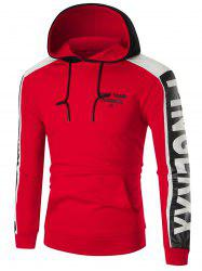 Sports Color Block Graphic Hoodie -