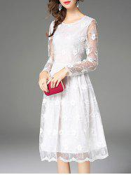 Lace Patchwork See Thru Dress -