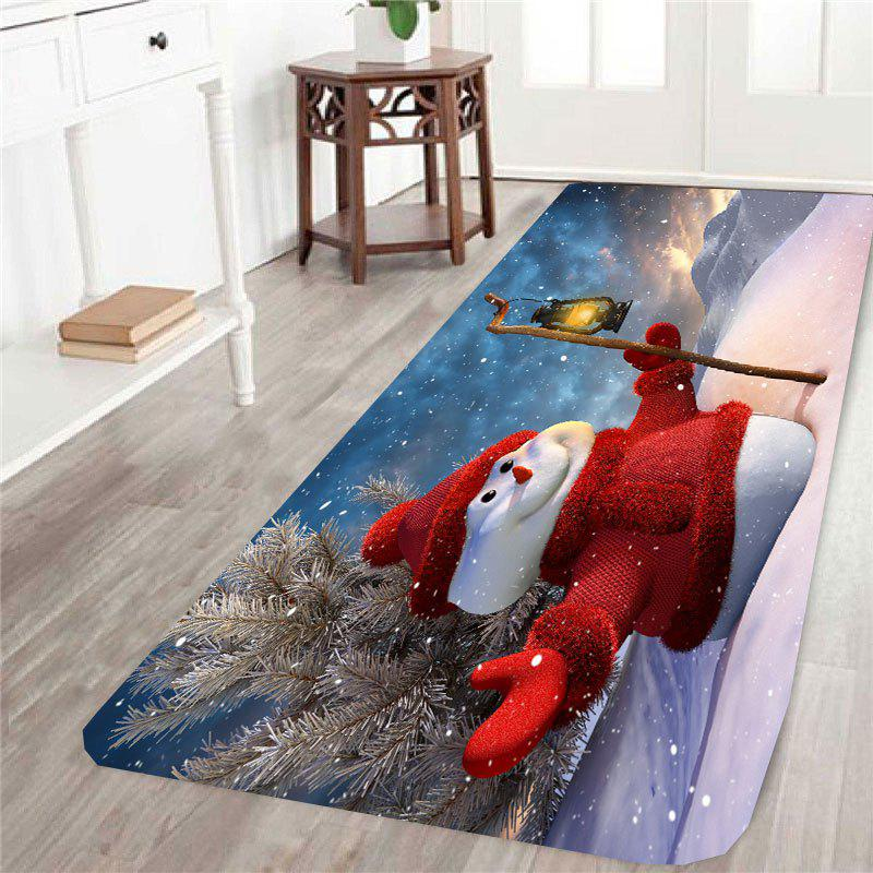 Skidproof Christmas Snowman Pattern RugHOME<br><br>Size: W16 INCH * L47 INCH; Color: COLORFUL; Products Type: Bath rugs; Materials: Coral FLeece; Pattern: Snowman; Style: Festival; Shape: Rectangle; Package Contents: 1 x Rug;