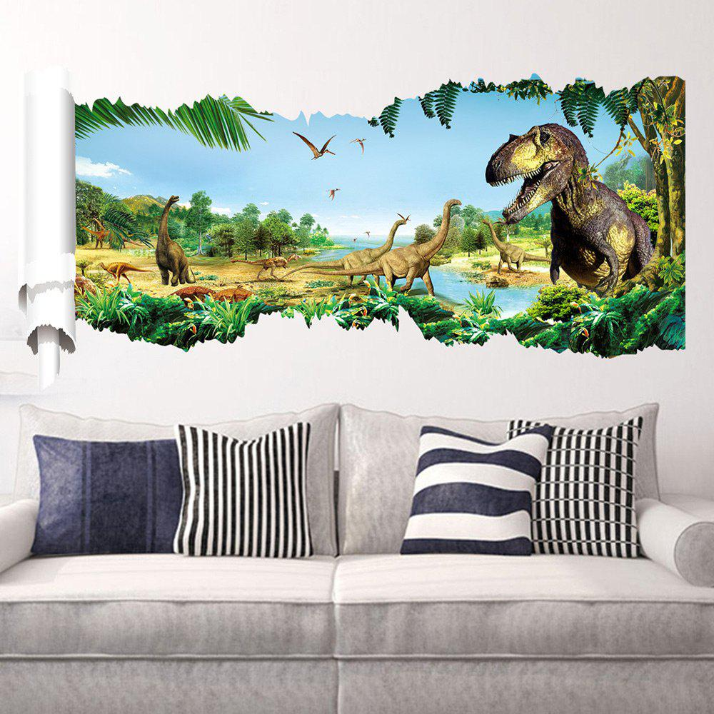 Forest Dinosaur Pattern Wall Stickers For Kid RoomHOME<br><br>Color: COLORMIX; Wall Sticker Type: Plane Wall Stickers; Functions: Decorative Wall Stickers; Theme: Animals; Pattern Type: Animal; Material: PVC; Feature: Removable; Weight: 0.2600kg; Package Contents: 1 x Wall Stickers;