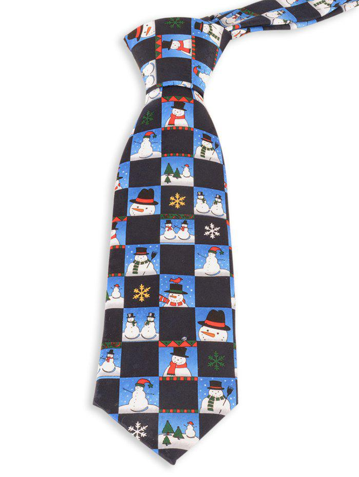 Outfits Christmas Snowman and Snowflake Pattern Novelty Christmas Necktie