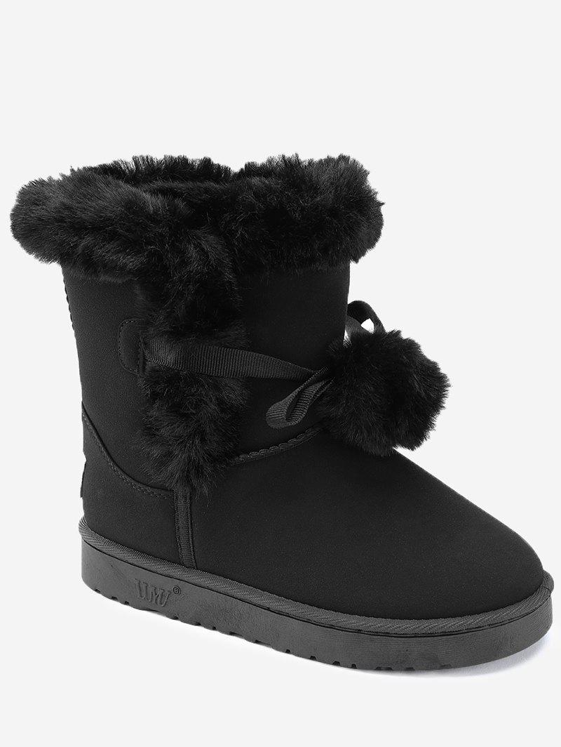 Affordable Pompom Short Snow Boots