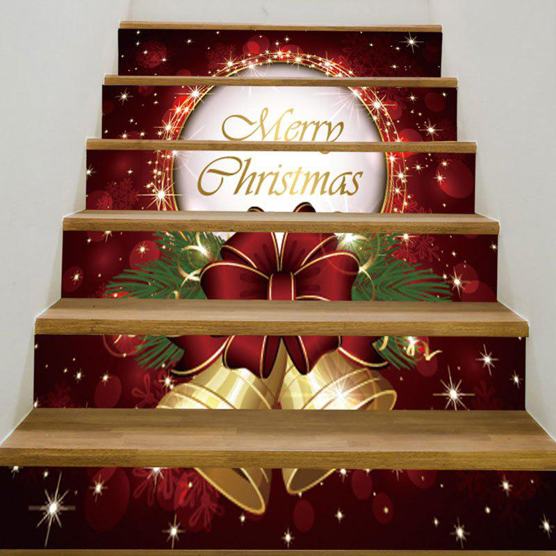 Trendy 6Pcs Christmas Bells Pattern Stairway Stickers