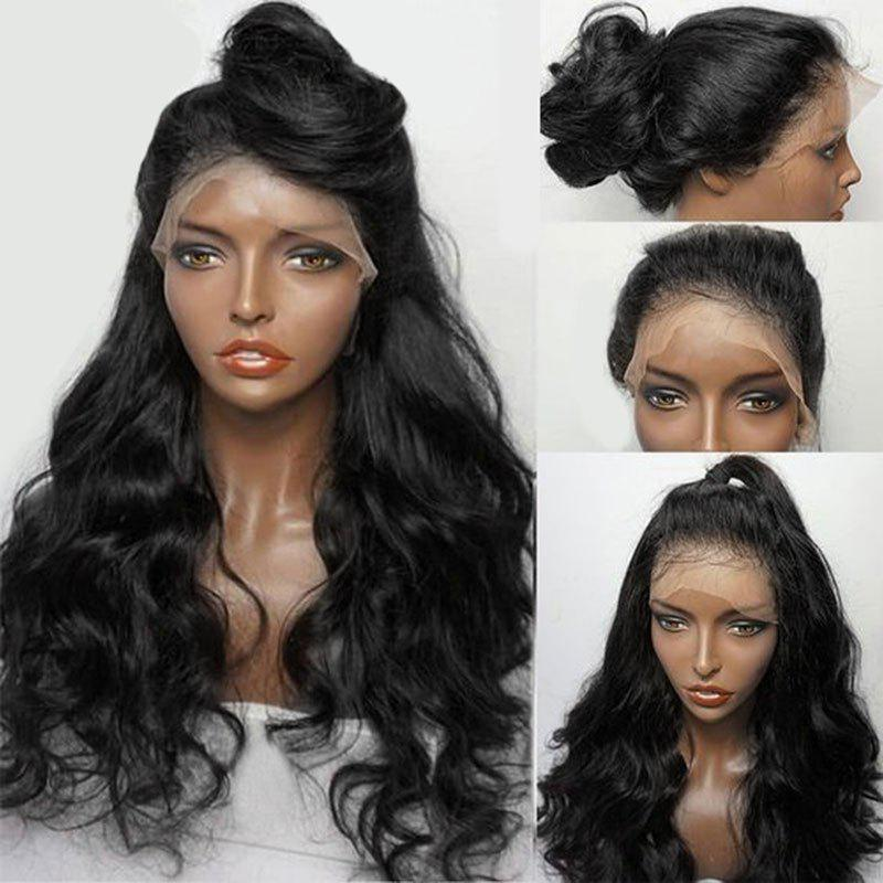 Long Free Part Fluffy Wavy Lace Front Synthetic WigHAIR<br><br>Color: NATURAL BLACK; Type: Full Wigs; Cap Construction: Lace Front; Style: Wavy; Cap Size: Average; Material: Synthetic Hair; Bang Type: Free Part; Length: Long; Lace Wigs Type: Lace Front Wigs; Occasion: Brithday Party,Ceremony,Daily,Gift,Graduation Ceremony,Party,Wedding; Length Size(CM): 80; Heat Resistant: Below 200?; Weight: 0.3600kg; Package Contents: 1 x Wig;