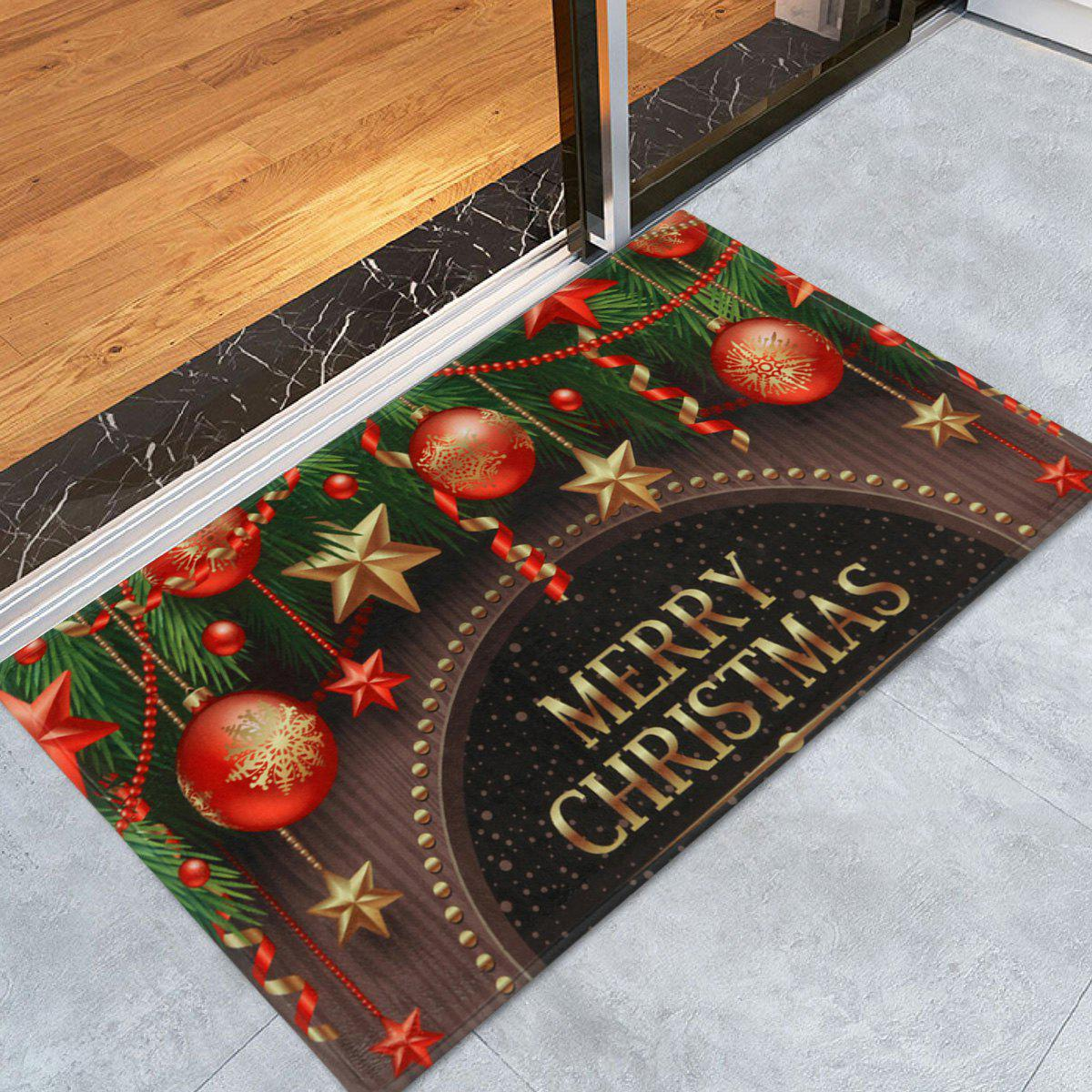 Christmas Decorations Print Antiskid Coral Fleece Bath MatHOME<br><br>Size: W16 INCH * L24 INCH; Color: COLORMIX; Products Type: Bath rugs; Materials: Coral FLeece; Style: Festival; Shape: Rectangular; Package Contents: 1 x Rug;