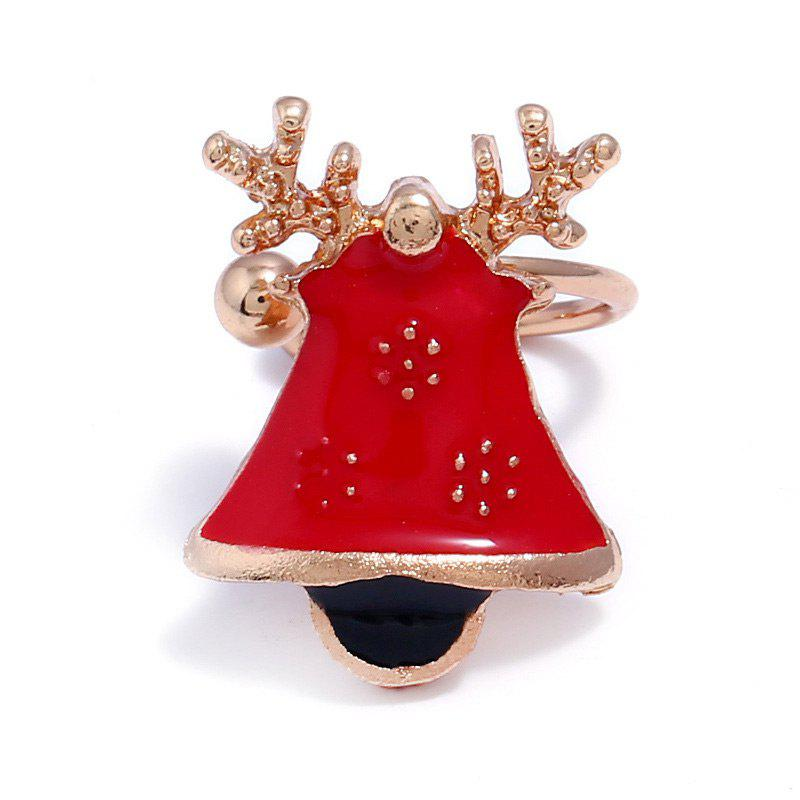 ONE PIECE Christmas Bell Deer Ear CuffJEWELRY<br><br>Color: RED; Earring Type: Ear Cuff; Gender: For Women; Style: Trendy; Shape/Pattern: Animal; Length: 1.8CM; Weight: 0.0080kg; Package Contents: 1 x Ear Cuff;