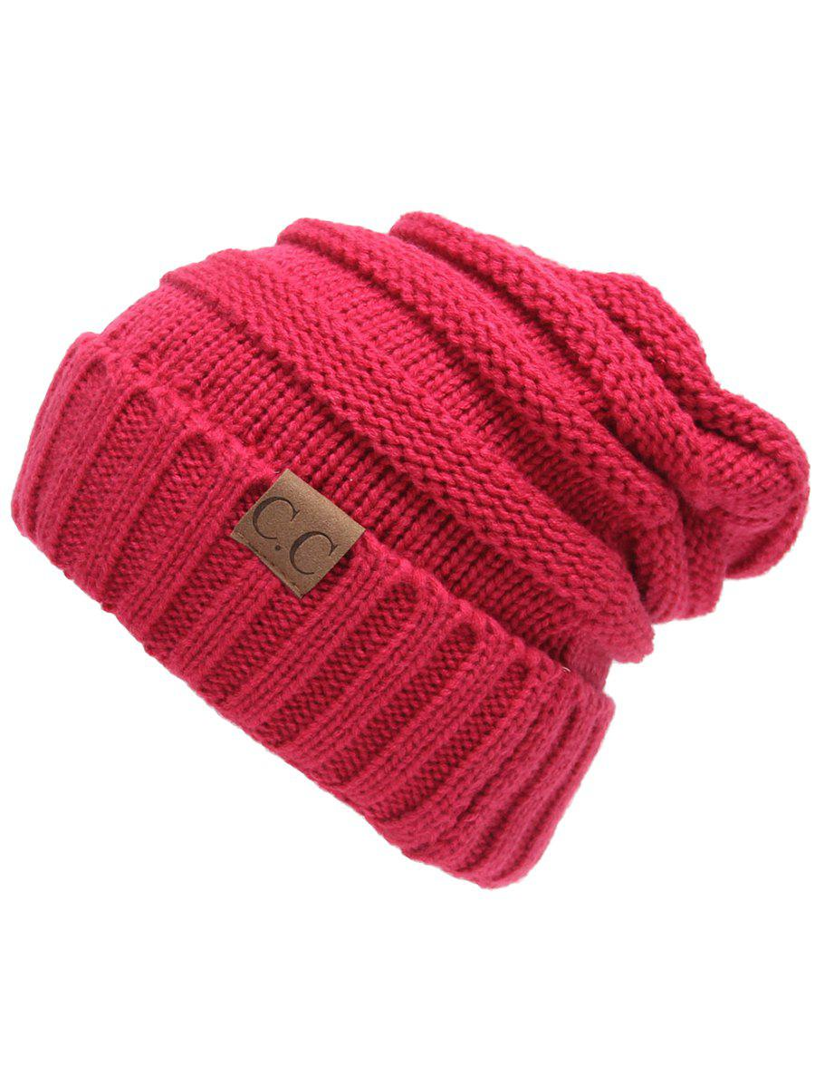 Best Outdoor CC Label Decorated Flanging Knitted Beanie