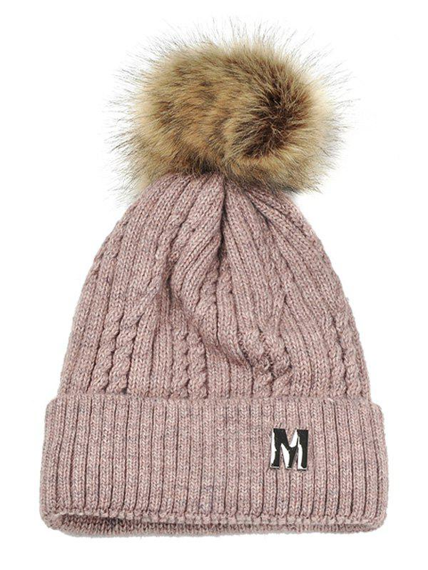 Best Outdoor Letter M Embellished Velvet Knitted Beanie