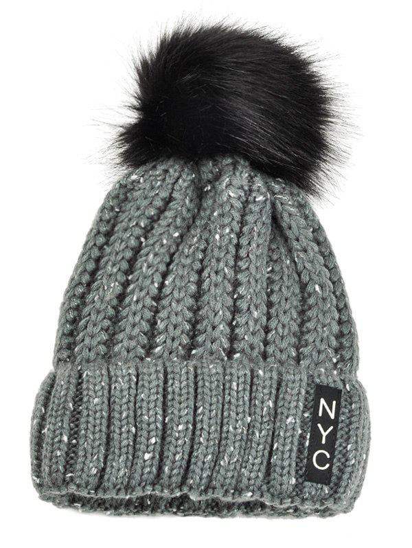 Best Outdoor Fuzzy Ball Embellished Crochet Knitted Beanie