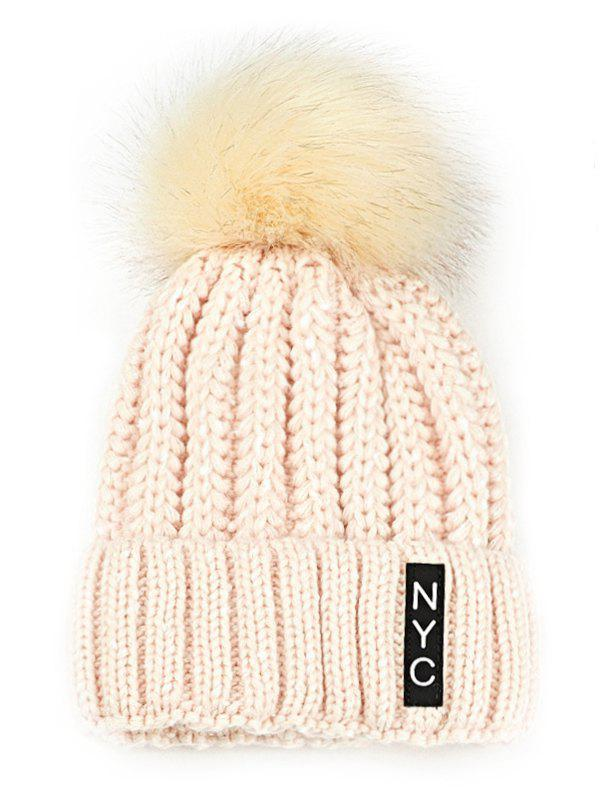 Shop Outdoor Fuzzy Ball Embellished Crochet Knitted Beanie