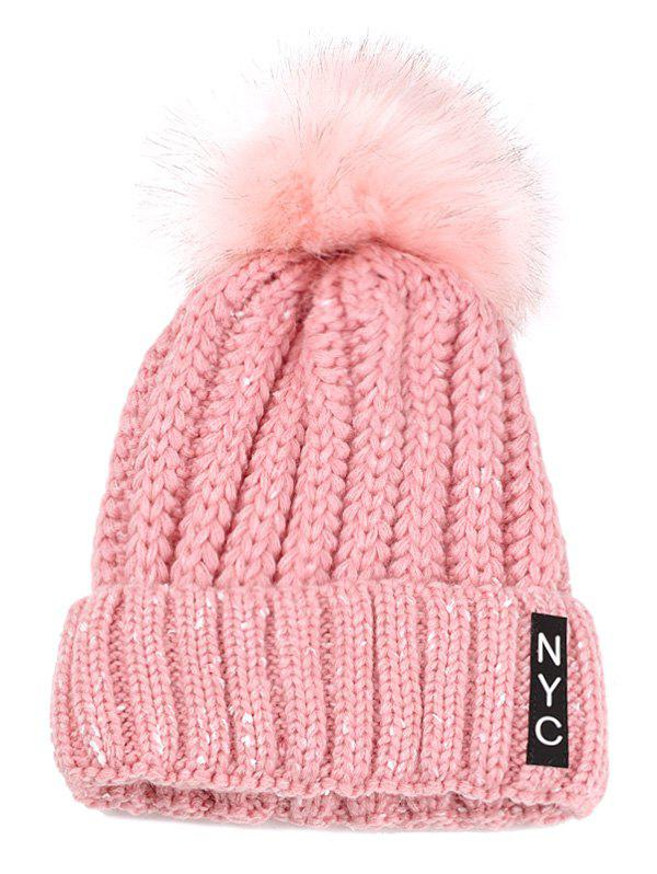 Shops Outdoor Fuzzy Ball Embellished Crochet Knitted Beanie