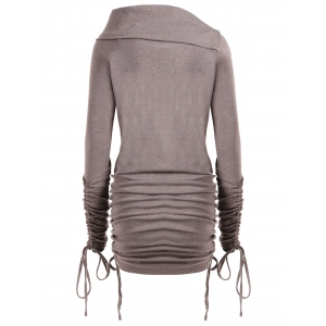 Long Plus Size Convertible Sweatshirt -