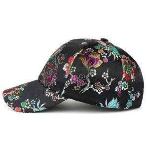 Retro Floral Pattern Embroidery Graphic Hat -