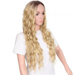 Long Middle Part Wavy Heat Resistant Synthetic Wig -