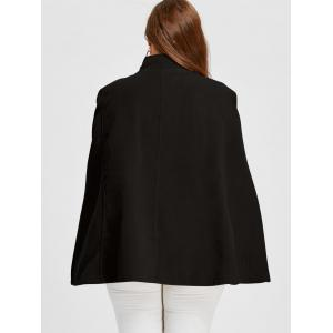 Plus Size Double Breasted Wool Blend Cape Coat with Belt -