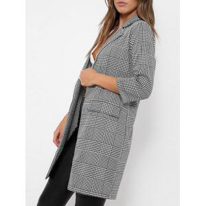 Check Long Blazer -
