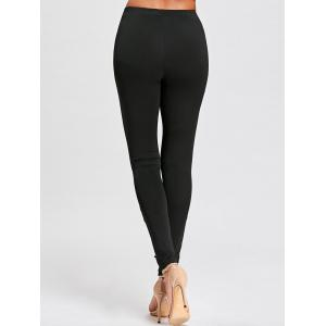 Hollow Out Lace Panel Tight Leggings -