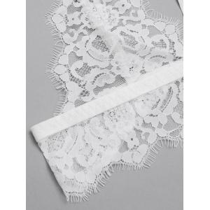 Scalloped Sheer Caged Lace Bra -