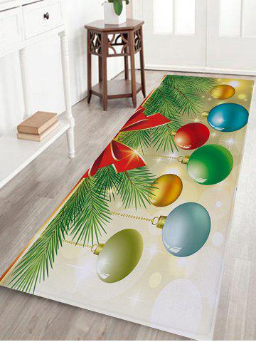 Christmas Baubles Pine Tree Pattern Anti-skid Water Absorption Area Rug - COLORMIX - W16 INCH * L47 INCH